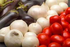 Multicolored Vegetable Variety background Stock Photos