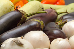 Multicolored Vegetable Variety background Stock Images