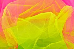 Multicolored veil. In fresh colors Royalty Free Stock Photo