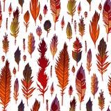 Multicolored veren naadloos patroon Stock Foto's