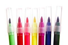 Multicolored Vilten Pennen van het Uiteinde Stock Foto