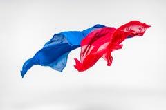 Multicolored vliegende stof Royalty-vrije Stock Afbeeldingen