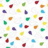 Multicolored vliegtuigenpatroon royalty-vrije illustratie