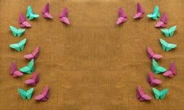 Multicolored vlinders van document Royalty-vrije Stock Afbeelding