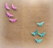 Multicolored vlinders van document Stock Afbeeldingen