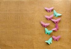 Multicolored vlinders van document Stock Foto