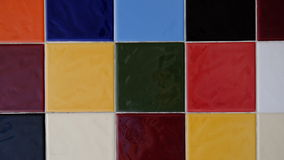 Multicolored of Wall tiles. Royalty Free Stock Images
