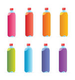 Multicolored water bottles Royalty Free Stock Photos