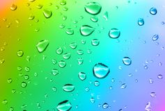 Multicolored water drops Stock Photography