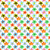 Multicolored watercolor flowers Royalty Free Stock Images
