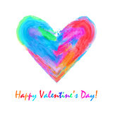 Multicolored watercolor heart Royalty Free Stock Photo