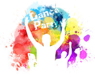 Multicolored watercolor party background Royalty Free Stock Photo