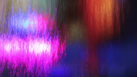 Multicolored waterfall stock video