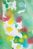 Multicolored waterverfplonsen als achtergrond Abstracte waterverftextuur en achtergrond voor ontwerpers Stock Afbeeldingen