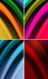Multicolored waves abstract background Stock Images