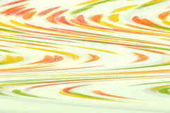 Multicolored waves on the white background Royalty Free Stock Photos