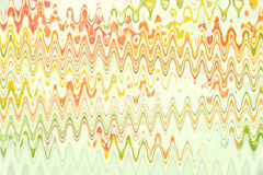 Multicolored waves on the white background Royalty Free Stock Photography