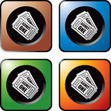 Multicolored web buttons admission tickets Royalty Free Stock Photography