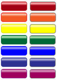 Multicolored websitepictogrammen Stock Afbeelding