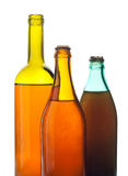 Multicolored wine bottles Royalty Free Stock Images