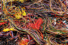 Multicolored wires Royalty Free Stock Photography