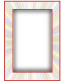 Multicolored With Red Border Royalty Free Stock Images