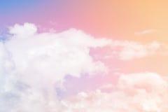 Multicolored wolken stock afbeelding