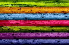 Multicolored Wood Planks as Background Stock Image