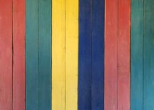 Multicolored wooden background stock photos