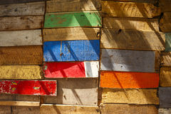 Multicolored Wooden Background Royalty Free Stock Photo