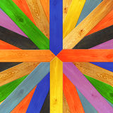 Multicolored wooden boards in different colors Stock Images