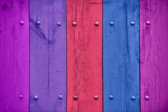 Multicolored Wooden Fence Royalty Free Stock Photo
