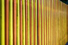 Multicolored Wooden Fence. In Serbia Stock Image
