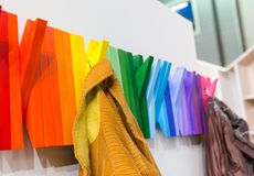 Multicolored wooden hanger Royalty Free Stock Photography