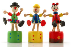 Multicolored wooden manikins Royalty Free Stock Image