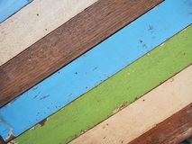 Multicolored wooden. Old wooden multicolored wooden wall background Royalty Free Stock Photography