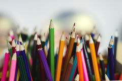 Multicolored wooden pencils Stock Images