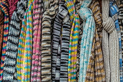 Multicolored wool Neckwear 1 Stock Image