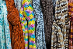Multicolored wool Neckwear 4 Stock Photo