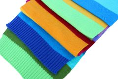 Multicolored wool scarf Stock Image