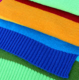 Multicolored wool scarf stock photos