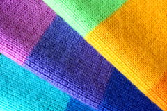 Multicolored wool scarf Stock Images