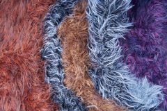 Multicolored wool yarn. Texture, background Stock Image