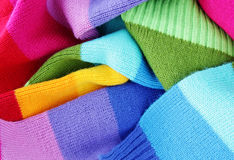 Multicolored woolen soft texture Stock Photography