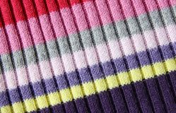 Multicolored woolen soft texture Royalty Free Stock Images