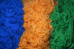 Multicolored woolen thread, background Royalty Free Stock Photos