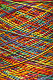 Multicolored yarn roll Stock Photo