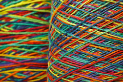 Multicolored yarn roll Stock Images