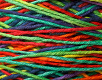Multicolored yarn roll Stock Image