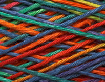 Multicolored yarn roll Royalty Free Stock Images
